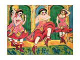 Czardas Dancers, 1908-20 Giclée-Druck von Ernst Ludwig Kirchner