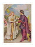 Hamlet and Ophelia from 'Children's Stories from Shakespeare' by Edith Nesbit (1858-1924) Pub. by… Giclee Print by John Henry Frederick Bacon