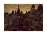 Seventeenth Century Moscow, a Street in Kitay Gorod, 1900 Giclee Print by Apollinari Mikhailovich Vasnetsov