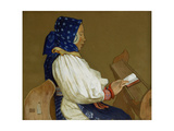 A Slovak Woman at Prayer, Vazcecz, Hungary, 1907 Giclee Print by Marianne Stokes