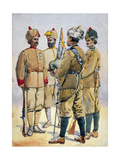 Soldiers of the Frontier Force, Illustration for 'Armies of India' by Major G.F. MacMunn,… Giclee Print by Alfred Crowdy Lovett