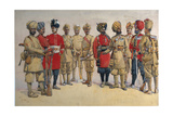 Soldiers of the Pioneer Regiments, Illustration for 'Armies of India' by Major G.F. MacMunn,… Giclee Print by Alfred Crowdy Lovett