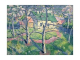 Apple Trees in Bloom, 1904 Giclee Print by Kasimir Malevich