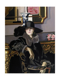 A Lady in Black Giclee Print by Francis Campbell Boileau Cadell