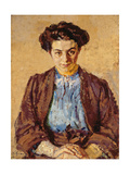 The Blue Blouse, Portrait of Elene Zompolides (1880-1958) Giclee Print by Harold Gilman