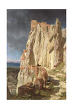 The Rock of Vann, Kurdistan, 1901 Giclee Print by Jules Joseph Augustin Laurens