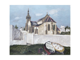Treboul Church, Brittany, 1930 Giclee Print by Christopher Wood