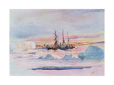Aurora Australis, Illustration from 'The Heart of the Antarctic: The Nimrod Expedition to the… Giclee Print by George Marston