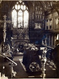The Coffin of Queen Alexandra (1844-1925) at Sandringham Church, 1925 Photographic Print