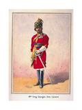 Honorary Lieutenant Hon Malik Umar Hayat Khan, Cie, Tiwana of Ahahpur (Punjabi Musalman)… Giclee Print by Alfred Crowdy Lovett