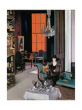 Interior - the Orange Blind, c.1928 Stampa giclée di Francis Campbell Boileau Cadell