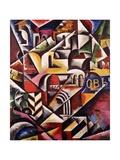Cubist Cityscape, 1914 Giclee Print by Lyubov Sergeevna Popova