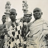 State Sword Bearers, Accra, Gold Coast, British West Africa, December 1946 Reproduction photographique par F. Uher