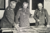 Paul Von Hindenburg (1847-1934) Kaiser Wilhelm II (1859-1941) and Erich Von Ludendorff (1865-1937) Photographic Print by  German photographer