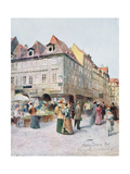 Havelska Ulice and Melantrichova Ulice, Prague, Illustration from 'Stara Praha (Old Prague)',… Giclee Print by Vaclav Jansa