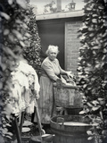 Washerwoman, c.1900-05 Photographic Print by  French Photographer