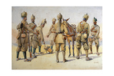 Soldiers of the 46th and 33rd Punjabis, Illustration for 'Armies of India' by Major G.F. MacMunn,… Giclee Print by Alfred Crowdy Lovett