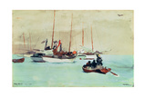 Schooners at Anchor, Key West, 1903 Giclee Print by Winslow Homer