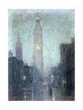Madison Avenue at Twilight Giclee Print by Lowell Birge Harrison