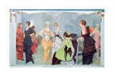Fashion Show at the Maison Beer, from 'La Vie Heureuse', March 1914 Giclee Print by Rene Lelong
