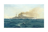 HMS Hood, 1919 Giclee Print by Duff Tollemache