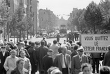 Closure of the Sector Border at Chausseestrasse Prior to the Completion of the Berlin Wall, Seen… Photographic Print by  German photographer