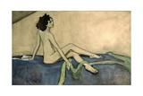 Portrait of Ida Lvovna Rubinstein (1880-1960) 1910 Giclee Print by Valentin Aleksandrovich Serov