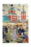 At the Fair Giclee Print by Boris Mihajlovic Kustodiev