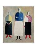 Three Little Girls, 1928-32 Giclee Print by Kasimir Malevich