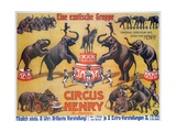 Poster Advertising the 'Circus Henry', 1908 Giclee Print by German School