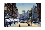 Postcard Depicting the Graben in Vienna, c.1910 Giclee Print by  Austrian School