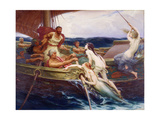 Ulysses and the Sirens, 1910 Giclee Print by Herbert James Draper