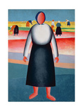 The Harvest, Study for a Painting, 1928-32 Giclee Print by Kasimir Malevich