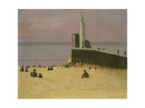 The Jetty at Honfleur, 1920 Giclee Print by Felix Edouard Vallotton