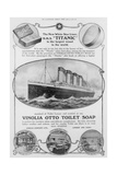 Advertisement for Vinolia Otto Toilet Soap, as Used on the 'titanic', from  Giclee Print