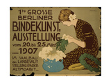 German Advertisement for a Floristry Exhibition in Berlin, Printed by Curt Behrends Und Co.,… Giclee Print by Hans Lindenstaedt