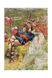 "Titania and Bottom in ""A Midsummer's Night Dream"" from 'Children's Stories from Shakespeare' by… Giclee Print by John Henry Frederick Bacon"