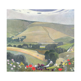Thunderbarrow Hill, Near Bramber Giclee Print by Edward Reginald Frampton