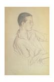 Portrait of Dmitri Dmitrievich Shostakovich (1906-75), 1923 Giclee Print by Boris Mihajlovic Kustodiev