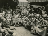The Asantehene and the Golden Stool, Accra, Gold Coast, Accra, Gold Coast, British West Africa,… Photographic Print by F. Uher
