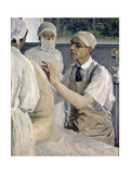 Portrait of the Surgeon Sergei Sergeevich Yudin (1891-1954) 1933 Giclee Print by Mikhail Vasilievich Nesterov