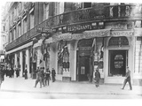 Cafes Decked Out with Allied Flags, Rue Scribe, Paris, 1914 Photographic Print by Jacques Moreau