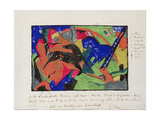 Two Horses, 1911-12 Giclee Print by Franz Marc