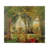 The Arbour, or 'The Conflict', c.1900 Giclee Print by Gaston De La Touche