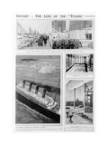 Views on Board the Titanic, 1912 Giclee Print