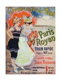 Advertisement for the Paris-Royan Railway Line, c.1908 Giclee Print by Georges Meunier