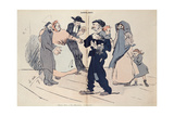 Struggle for a Child Between the Child's Family and the Church, the State and the Freemasons,… Giclee Print by Charles Felix Gir