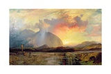 Sunset Vespers at the Old Rugged Cross Giclee Print by Thomas Moran