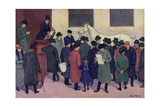 Under the Hammer, 1914 Giclee Print by Robert Polhill Bevan