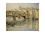 Ponte Vecchio, Florence, c.1910 Giclee Print by Charles Oppenheimer